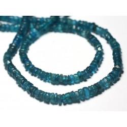 10pc - Perles de Pierre - Apatite Carrés Heishi 3-4mm - 8741140008878